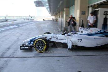 World © Octane Photographic Ltd. Tuesday 25th November 2014. Abu Dhabi Testing - Yas Marina Circuit. Williams Racing FW36 – Valtteri Bottas. Digital Ref: 1174LB7L9661