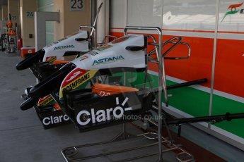 World © Octane Photographic Ltd. Tuesday 25th November 2014. Abu Dhabi Testing - Yas Marina Circuit. Sahara Force India VJM07 - spare nose. Digital Ref : 1174LB7L9704