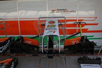 World © Octane Photographic Ltd. Tuesday 25th November 2014. Abu Dhabi Testing - Yas Marina Circuit. Sahara Force India VJM07 - spare nose. Digital Ref : 1174LB7L9707