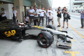 World © Octane Photographic Ltd. Tuesday 25th November 2014. Abu Dhabi Testing - Yas Marina Circuit. McLaren Honda MP4-29H/1X1 - Stoffel Vandoorne. Digital Ref: 1174LB7L9830