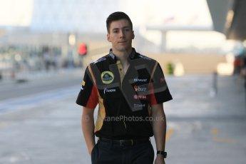 World © Octane Photographic Ltd. Wednesday 26th November 2014. Abu Dhabi Testing - Yas Marina Circuit. Lotus F1 Team E22 – Alex Lynn - GP3 Champion. Digital Ref: 1175CB1D8651