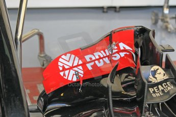 World © Octane Photographic Ltd. Wednesday 26th November 2014. Abu Dhabi Testing - Yas Marina Circuit. Lotus F1 Team E22 front wing detail. Digital Ref: 1175CB1D8675