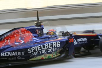 World © Octane Photographic Ltd. Wednesday 26th November 2014. Abu Dhabi Testing - Yas Marina Circuit. Scuderia Toro Rosso STR 9 – Max Verstappen. Digital Ref: 1175CB1D8986