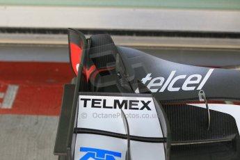 World © Octane Photographic Ltd. Tuesday 25th November 2014. Abu Dhabi Testing - Yas Marina Circuit. Sauber C33 front wing detail. Digital Ref: 1175CB1D9056