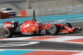 World © Octane Photographic Ltd. Wednesday 26th November 2014. Abu Dhabi Testing - Yas Marina Circuit. Scuderia Ferrari F14T – Raffaele Marciello. Digital Ref: 1175CB1D9177