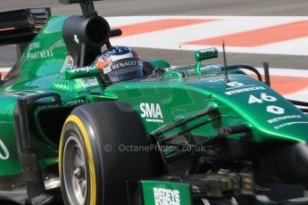 World © Octane Photographic Ltd. Wednesday 26th November 2014. Abu Dhabi Testing - Yas Marina Circuit. Caterham F1 Team CT05 – William Stevens. Digital Ref: 1175CB1D9192