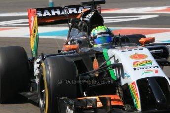 World © Octane Photographic Ltd. Wednesday 26th November 2014. Abu Dhabi Testing - Yas Marina Circuit. Sahara Force India VJM07 – Spike Goddard. Digital Ref: 1175CB1D9197