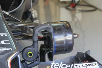 World © Octane Photographic Ltd. Wednesday 26th November 2014. Abu Dhabi Testing - Yas Marina Circuit. Sauber C33 front brakes being cooled. Digital Ref : 1175CB1D9226