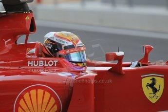 World © Octane Photographic Ltd. Wednesday 26th November 2014. Abu Dhabi Testing - Yas Marina Circuit. Scuderia Ferrari F14T – Raffaele Marciello. Digital Ref: 1175CB1D9255