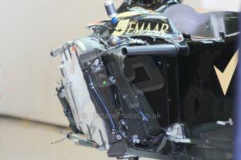 World © Octane Photographic Ltd. Wednesday 26th November 2014. Abu Dhabi Testing - Yas Marina Circuit. Lotus F1 Team E22 striped chassis. Digital Ref: 1175CB1D9324