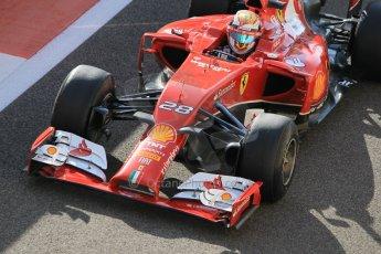 World © Octane Photographic Ltd. Wednesday 26th November 2014. Abu Dhabi Testing - Yas Marina Circuit. Scuderia Ferrari F14T – Raffaele Marciello. Digital Ref: 1175CB1D9515
