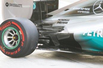 World © Octane Photographic Ltd. Wednesday 26th November 2014. Abu Dhabi Testing - Yas Marina Circuit. Mercedes AMG Petronas F1 W05 Hybrid rear suspension. Digital Ref: 1175CB1D9540