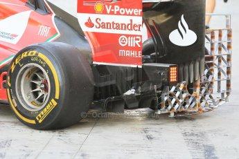 World © Octane Photographic Ltd. Wednesday 26th November 2014. Abu Dhabi Testing - Yas Marina Circuit. Scuderia Ferrari F14T diffusor and aero test rig. Digital Ref: 1175CB1D9574