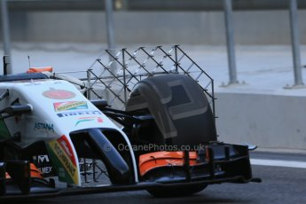 World © Octane Photographic Ltd. Wednesday 26th  November 2014. Abu Dhabi Testing - Yas Marina Circuit. Sahara Force India VJM07 – Technical. Digital Ref: 1175LB1D8554