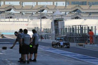 World © Octane Photographic Ltd. Wednesday 26th November 2014. Abu Dhabi Testing - Yas Marina Circuit. Mercedes AMG Petronas F1 W05 Hybrid - Pascal Wehrlein. Digital Ref: 1175LB1D8774