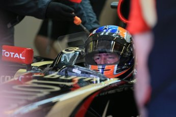 World © Octane Photographic Ltd. Wednesday 26th Wednesday 26th November 2014. Abu Dhabi Testing - Yas Marina Circuit. Lotus F1 Team E22 – Alex Lynn. Digital Ref: 1175LB1D9129