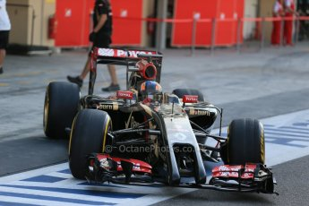 World © Octane Photographic Ltd. Wednesday 26th Wednesday 26th November 2014. Abu Dhabi Testing - Yas Marina Circuit. Lotus F1 Team E22 – Alex Lynn. Digital Ref: 1175LB1D9139
