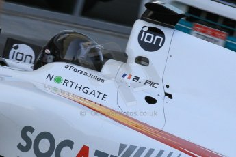World © Octane Photographic Ltd. Thursday 27th November 2014. GP2 Testing - Yas Marina, United Arab Emirates. Arthur Pic - Campos Racing. Digital Ref :