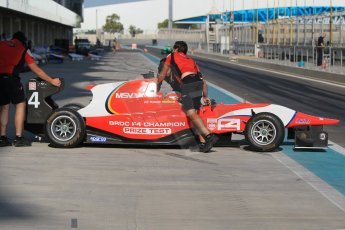 World © Octane Photographic Ltd. Thursday 27th November 2014. GP3 Testing - Yas Marina, United Arab Emirates. George Russell - Arden International – BRDC F4 Championship prize test. Digital Ref :