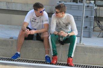 World © Octane Photographic Ltd. Thursday 27th November 2014. GP3 Testing - Yas Marina, United Arab Emirates. Matt Parry and Seb Morris - Status Grand Prix. Digital Ref :