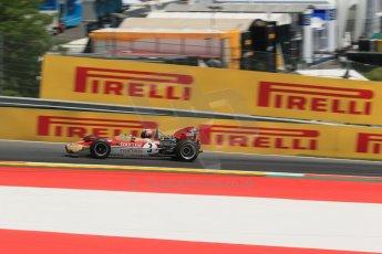 World © Octane Photographic Ltd. Sunday 22nd June 2014. Red Bull Ring, Spielberg – Austria - Formula 1 Legends. Gerhard Berger - Lotus 49. Digital Ref: 1003LB1D4673