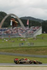 World © Octane Photographic Ltd. Saturday 21st June 2014. Red Bull Ring, Spielberg - Austria - Formula 1 Practice 3. Lotus F1 Team E22 – Pastor Maldonado. Digital Ref: 0995LB1D1330