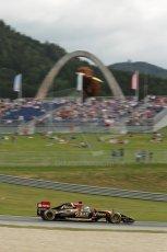 World © Octane Photographic Ltd. Saturday 21st June 2014. Red Bull Ring, Spielberg - Austria - Formula 1 Practice 3. Lotus F1 Team E22 - Romain Grosjean. Digital Ref: