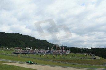 World © Octane Photographic Ltd. Saturday 21st June 2014. Red Bull Ring, Spielberg - Austria - Formula 1 Practice 3. Caterham F1 Team CT05 – Marcus Ericsson. Digital Ref: 0995LB1DX1903