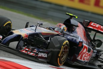 World © Octane Photographic Ltd. Friday 20th June 2014. Red Bull Ring, Spielberg - Austria - Formula 1 Practice 1.  Scuderia Toro Rosso STR 9 – Daniil Kvyat. Digital Ref: 0991LB1D0012