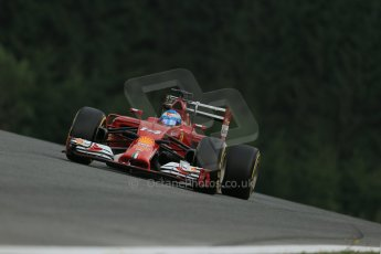 World © Octane Photographic Ltd. Friday 20th June 2014. Red Bull Ring, Spielberg - Austria - Formula 1 Practice 1. Scuderia Ferrari F14T - Fernando Alonso. Digital Ref: 0991LB1D0227