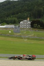 World © Octane Photographic Ltd. Friday 20th June 2014. Red Bull Ring, Spielberg - Austria - Formula 1 Practice 1.  Lotus F1 Team E22 – Pastor Maldonado. Digital Ref: 0991LB1D0887