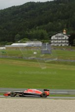 World © Octane Photographic Ltd. Friday 20th June 2014. Red Bull Ring, Spielberg - Austria - Formula 1 Practice 1.  Marussia F1 Team MR03 - Max Chilton. Digital Ref:  0991LB1D0896