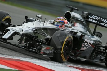 World © Octane Photographic Ltd. Friday 20th June 2014. Red Bull Ring, Spielberg - Austria - Formula 1 Practice 1.  McLaren Mercedes MP4/29 - Jenson Button. Digital Ref: 0991LB1D9923