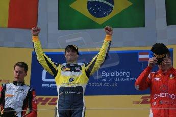 World © Octane Photographic Ltd. Saturday 21st June 2014. GP2 Race 1 – Red Bull Ring, Spielberg - Austria. Felipe Nasr - Carlin. Digital Ref : 0997LB1D3608