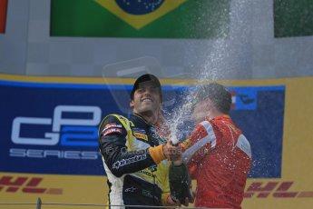 World © Octane Photographic Ltd. Saturday 21st June 2014. GP2 Race 1 – Red Bull Ring, Spielberg - Austria. Felipe Nasr - Carlin and Raffaele Marciello - Racing Engineering. Digital Ref : 0997LB1D3688