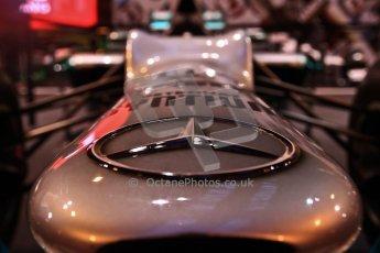 World © Octane Photographic Ltd. Autosport International Show NEC Birmingham, Thursday 9th January 2014. Mercedes F1 nose. Digital ref: 0878cj7d0028