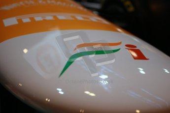 World © Octane Photographic Ltd. Autosport International Show NEC Birmingham, Thursday 9th January 2014. Force Indian F1 nose. Digital ref: 0878lb1d8745