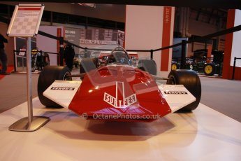 World © Octane Photographic Ltd. Autosport International Show NEC Birmingham, Thursday 9th January 2014. John Surtees 50th anniversary display. Digital ref: 0878lb1d8752