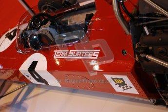 World © Octane Photographic Ltd. Autosport International Show NEC Birmingham, Thursday 9th January 2014. John Surtees 50th anniversary display. Digital ref: 0878lb1d8756