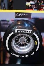 World © Octane Photographic Ltd. Autosport International Show NEC Birmingham, Thursday 9th January 2014. Pirelli tires. Digital ref: 0878lb1d8785