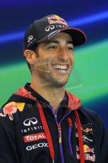 World © Octane Photographic Ltd. Thursday 21st August 2014. Belgian GP, Spa-Francorchamps - Formula 1 FIA Press Conference. Infiniti Red Bull Racing - Daniel Ricciardo. Digital Ref: 1078LB1D6186