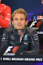 World © Octane Photographic Ltd. Thursday 21st August 2014. Belgian GP, Spa-Francorchamps Formula 1 FIA Press Conference. Mercedes AMG Petronas - Nico Rosberg. Digital Ref: 1078LB1D6318