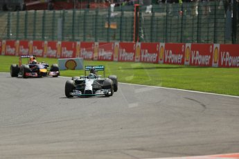 World © Octane Photographic Ltd. Sunday 24th August 2014, Belgian GP, Spa-Francorchamps. - Formula 1 Race. Mercedes AMG Petronas F1 W05 Hybrid - Nico Rosberg. Digital Ref: 1090LB1D1798