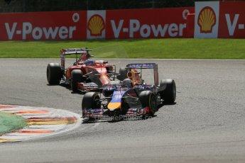 World © Octane Photographic Ltd. Sunday 24th August 2014, Belgian GP, Spa-Francorchamps. Formula 1 Race. Infiniti Red Bull Racing RB10 - Sebastian Vettel. Digital Ref: 1090LB1D1979