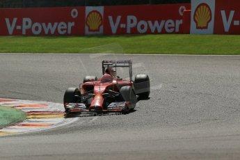 World © Octane Photographic Ltd. Sunday 24th August 2014, Belgian GP, Spa-Francorchamps. - Formula 1 Race. Scuderia Ferrari F14T – Kimi Raikkonen. Digital Ref: 1090LB1D1986