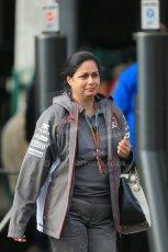 World © Octane Photographic Ltd. Sunday 24th August 2014, Belgian GP, Spa-Francorchamps. - Formula 1 Paddock. Sauber Team Principle – Monisha Kaltenborn. Digital Ref: 1088LB1D1360