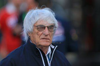 World © Octane Photographic Ltd. Sunday 24th August 2014, Belgian GP, Spa-Francorchamps. Formula 1 Paddock. Bernie Ecclestone. Digital Ref: 1088LB1D1362