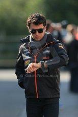 World © Octane Photographic Ltd. Sunday 24th August 2014, Belgian GP, Spa-Francorchamps. - Formula 1 Paddock. Sahara Force India – Sergio Perez. Digital Ref: 1088LB1D1443