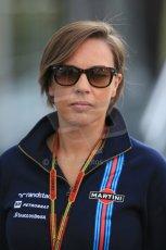 World © Octane Photographic Ltd. Sunday 24th August 2014, Belgian GP, Spa-Francorchamps. - Formula 1 Paddock. Williams Martini Racing Deputy team Principle – Claire Williams. Digital Ref: 1088LB1D1542