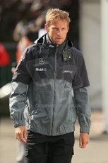 World © Octane Photographic Ltd. Sunday 24th August 2014, Belgian GP, Spa-Francorchamps. - Formula 1 Paddock. McLaren Mercedes - Jenson Button. Digital Ref: 1088LB1D1589
